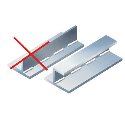 thermisch verzinken the coatinc niet vlak aan elkaar lassen